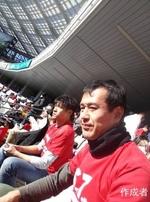 中山さんのおかげで帝京側に入れました。帝京カラーの赤です。