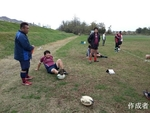 薮本さん休憩中。東郷さんと昌さんも。後半は安心の試合展開。