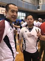 稲城開会式は雨のため体育館で行われました