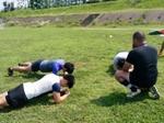 自主練で体幹トレーニング