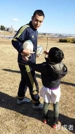 けんしんくんのボールへの絡み練習。