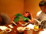 大活躍のひとしさんは眠りってしまいました。